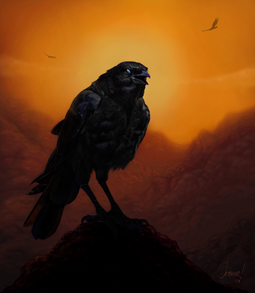 "Digital Painting ""Consider The Ravens"" - Copyright, 2012, Jephyr! All Rights Reserved"